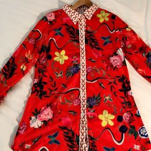 Women's Long Sleeve Silk Shirt Dress